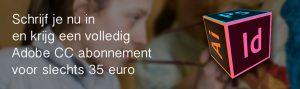 Compleet Adobe CC abonnement voor 35 euro